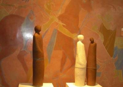 Skulpturen aus Ton von Christl Angele-Scheffold