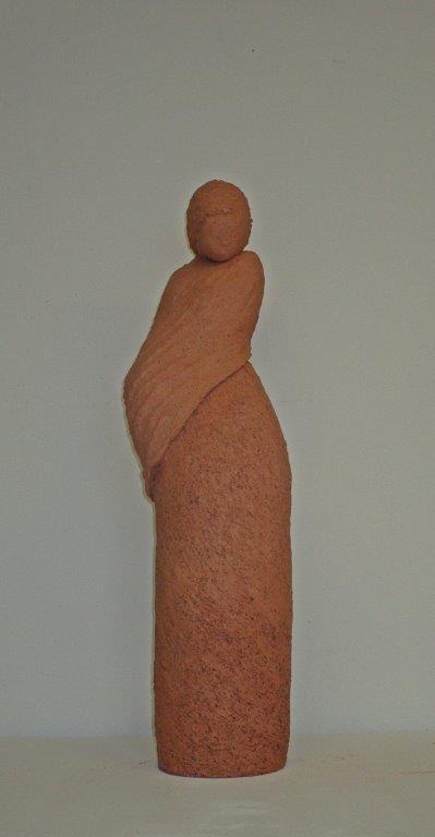 DIE FORSCHE - Skulpturen aus Ton von Christl Angele-Scheffold